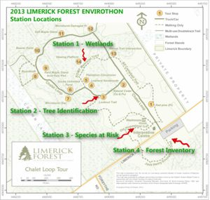 Map of Envirothon station locations