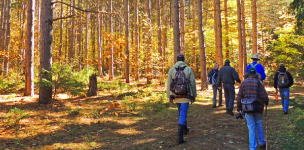 Image of visitors hiking