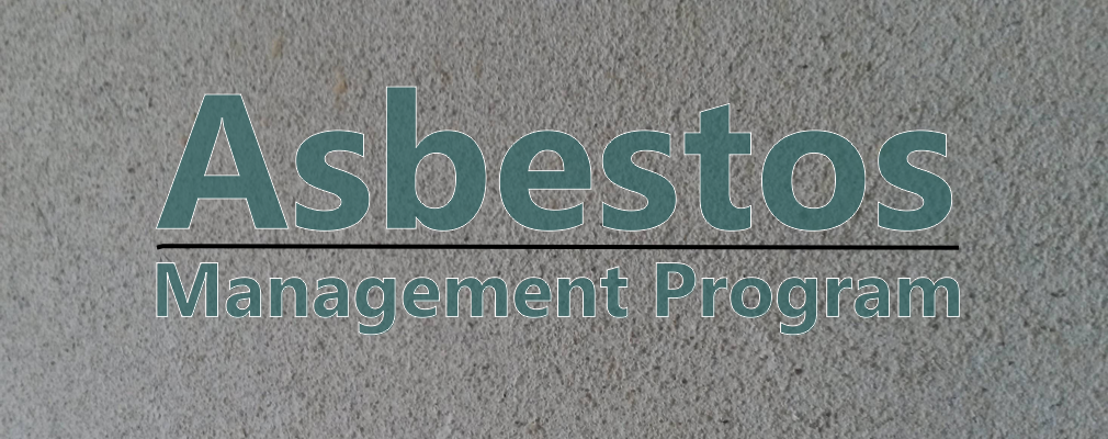 Image of asbestos with title Asbestos Management Program