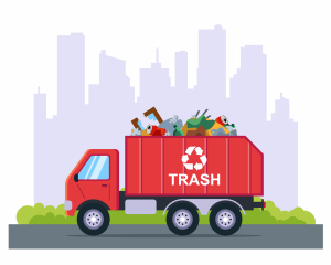 image of garbage removal truck