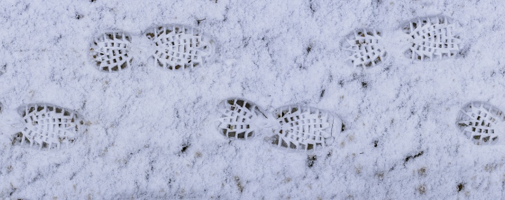 image of foot prints in snow