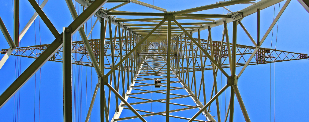 Image of a power line tower